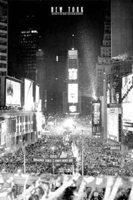 Times Square New Year's Eve by artist Jerry Driendl