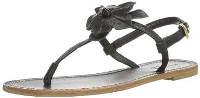 Marc O'Polo Flat Sandal 40312181101117, Damen Sandalen, Schwarz (black 990), EU 42