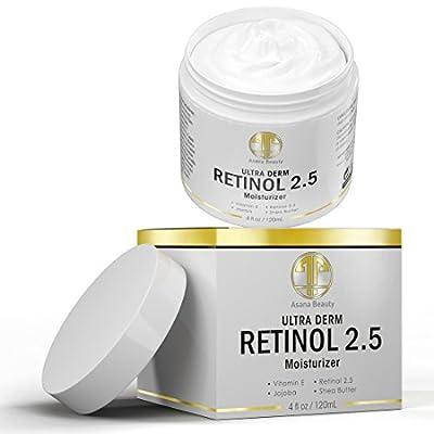 Best Retinol 2.5% Night Cream, HUGE 4 OZ Moisturizer for Face & Eyes - Best Anti Aging & Anti Wrinkle Firming Cream for Fine Lines, Wrinkles & Dry Skin, Natural Lotion with Vitamin C,E & Jojoba Oil
