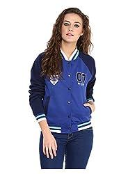 Yepme Women's Blue Leather Jackets -- YPMJACKT5132_XL