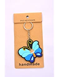 Blue Striped Butterfly Key Chain Pack Of 2