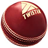 Twister Test Cricket Leather Ball, Color: Red