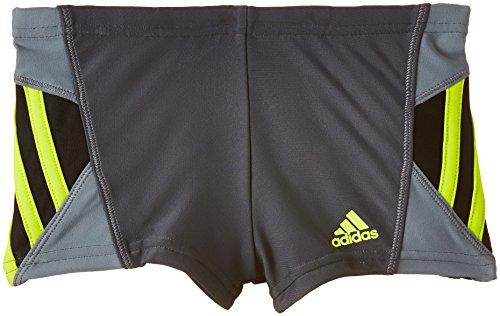 adidas Jungen Badeanzug Inspiration Boxer, Dark Grey/Semi Solar Yellow, 164, S22862