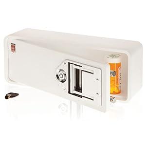 Medicine Safe-Lock box to secure prescription medication-fits inside Medicine Cabinets /Vanity Drawer