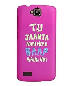 KolorEdge Back Cover For Huawei Honor Holly - Pink (2440-Ke15123HonorHollyPink3D)