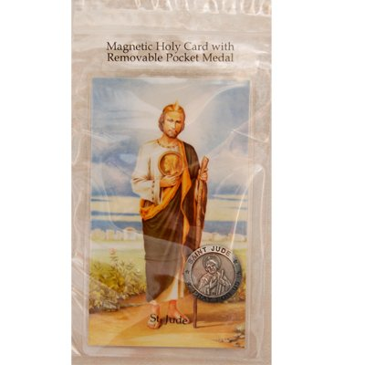 Magnetic St. Jude Holy Card & Removable St. Jude Pocket Medal