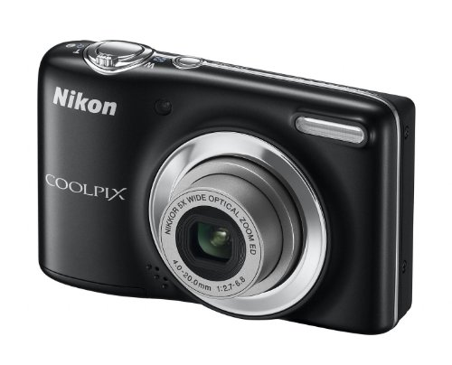 Nikon COOLPIX L25 Compact Digital Camera - Black (10.1MP, 5x Optical Zoom) 3 inch LCD