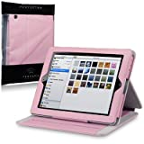 Apple iPad Techstyle PU Leather Folio Case With Stand (iPad 2 / 3 / 4 Retina) - Pink by Terrapinby TERRAPIN