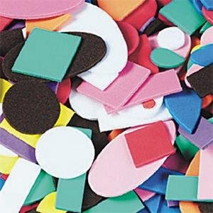 Foam Shapes 1 Pound Assorted
