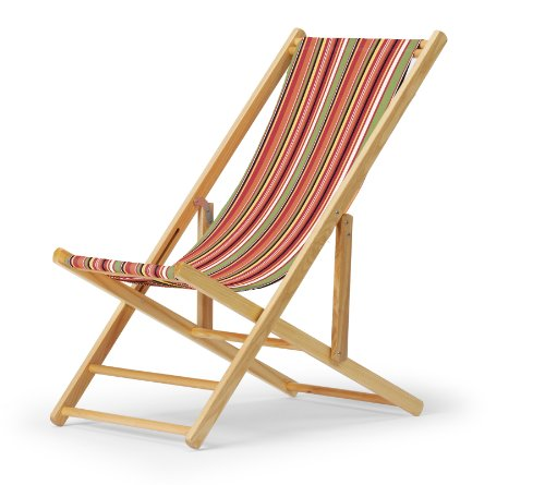 Telescope Casual Cabana Beach Folding Chair, Varnish Frame With Cantina Cover