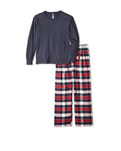 U.S. POLO ASSN. Men's Thermal Crew and Flannel Pant Pajama Gift Set