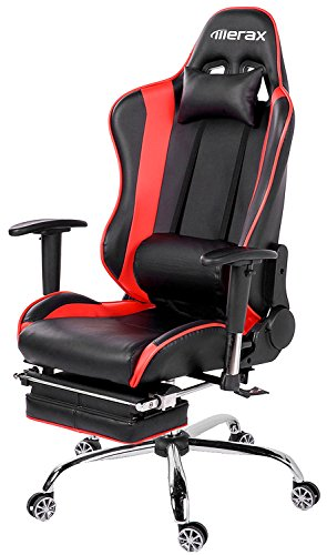 Charmant Merax Ergonomic Series Pu Leather Office Chair Racing Chair With Footrest  Computer Gaming Chair, Recliner ...