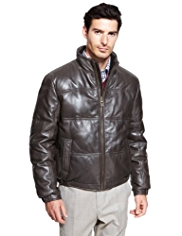 Collezione Leather Down Filled Jacket
