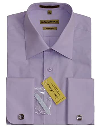 Lavender french cuff dress shirt with cufflinks at amazon for Purple french cuff dress shirt