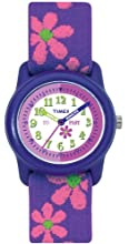 Timex Kids T89022 Time Teacher Flowers Stretch Band Watch