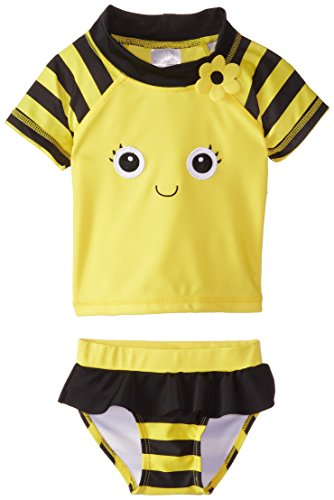 Candlesticks Baby-Girls Infant Bumble Bee Yellow Rash-Guard Set
