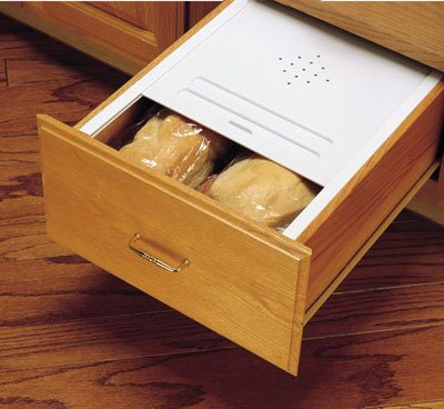 Rev-A-Shelf BDC-200-11 Bread Drawer Kit - Polymer-White