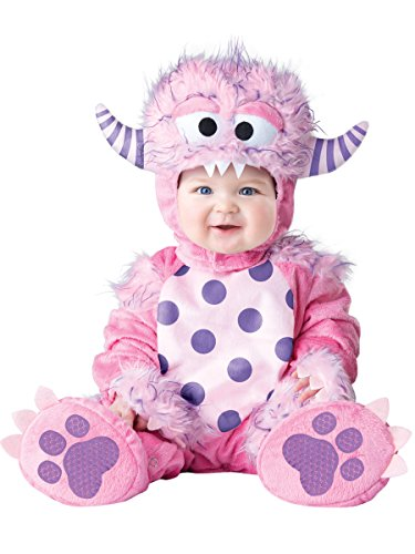 InCharacter Costumes Baby Girls' Lil' Monster Costume, Pink, Small