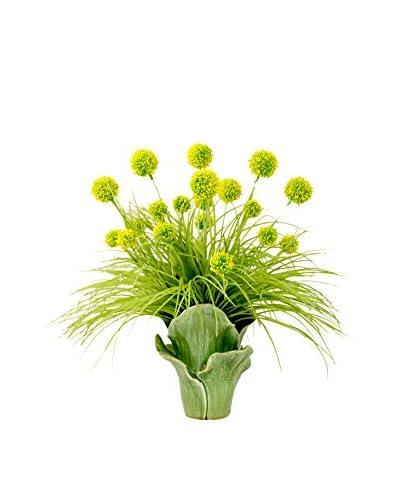 Creative Displays Allium Petal Vase, Green