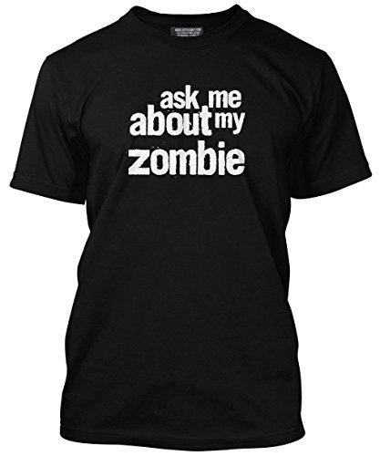 HotScamp Premium Ask Me My Zombie impressione maglietta adulti, ragazzi e bambini con molti colori, tutte le misure XS S M L XL XXL 3X L Jet Black Età 7/8 - 81,28 cm