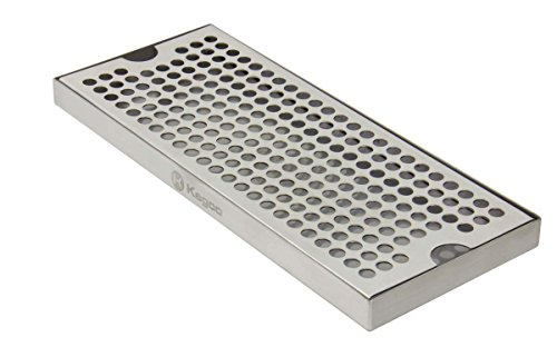 Kegco KC DP-125 Beer Drip Tray Surface No Drain Mount, 12