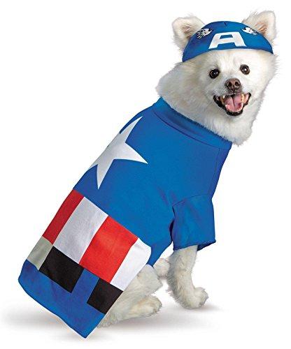 Captain America Pet Costume, Small