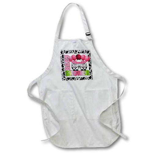 Apr_173036_2 Doreen Erhardt Baby Designs - Twins Pink Girls Baby Shower Cowgirls Western Theme - Aprons - Medium Length Apron With Pouch Pockets 22W X 24L front-239251
