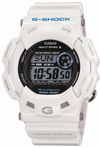 CASIO (カシオ) 腕時計 G-SHOCK GULFMAN タフソーラー 電波時計 MULTIBAND5 GW-9100P-7JF Men in Ice White メンズ