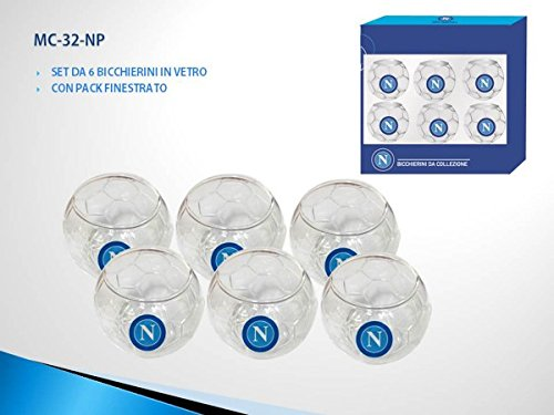 Set bicchierini in vetro SSC NAPOLI