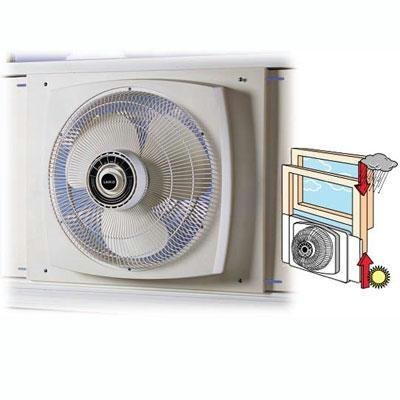 New Lasko Products 16 Inch Reversible Window Fan Whisper-Quiet Speeds U.L. Listed Paddle Blades picture