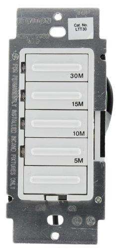 Leviton Ltt601lw Decorar Preset Countdown Timer Switch 60 Min