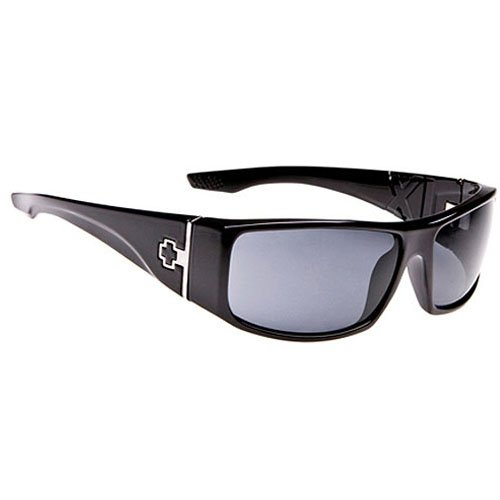 Spy Cooper XL Sunglasses - Spy Optic Steady Series Casual Wear Eyewear - Color: Shiny Black/Grey, Size: One Size Fits All
