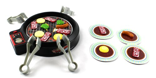Xc Super Barbeque BBQ Grill Pretend Play Toy Cooking Kitchen Play Set Game, Comes W/ Toy Food Pieces, 4 Food Tongs, Grill