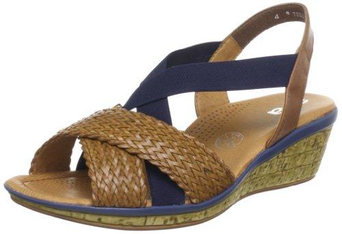 Ara Perugia Sandals Women brown Braun (cuoio,blau/nuss) Size: 7 (41 EU)