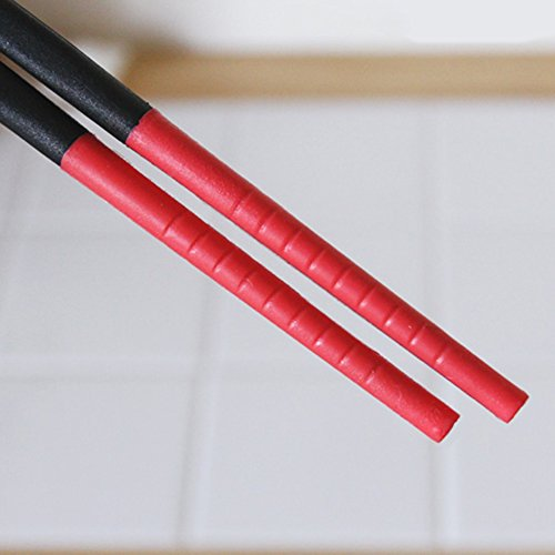 Silicone Tip Chopsticks, Red (Long 30cm) (Chopsticks Cooking compare prices)