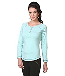 Zastraa Women's Top (ZSTRTOPS0056_Blue_Small)
