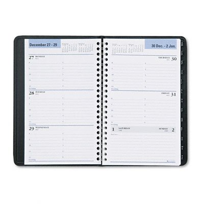 At-A-Glance G21000 Weekly Appointment Book w/Tabbed Tel/Address Pages, 4-7/8 x 8, Black