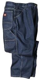 Dickies Mens LU200 Industrial Carpenter Jean-WRINKLED TINT INDIGO BLUE-36x34