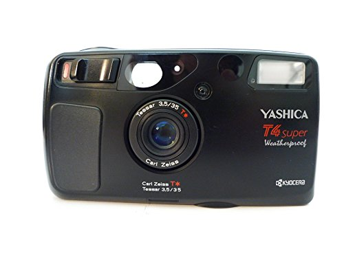 Kyocera Yashica T4 Super Weatherproof Camera with Carl Zeiss Tessar T* 35mm F3.5 Lens and Waistlever Super Scope Viewfinder (Yashica 35 compare prices)