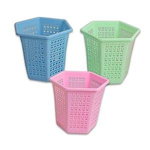 Plastic trash can wastebasket pink home kitchen - Pink kitchen trash can ...