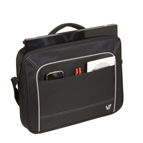 V7 16″ Vantage Front Loading Shock and Water Resistant Notebook Bag For Dell, ASUS, HP, Acer, Toshiba, Apple, Lenovo notebooks and laptops (CCV1-9N) – BLACK image