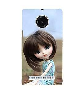 Fuson Lite Beautiful Girl Doll 3D Hard Polycarbonate Designer Back Case Cover for YU Yuphoria :: YU Yuphoria YU5010