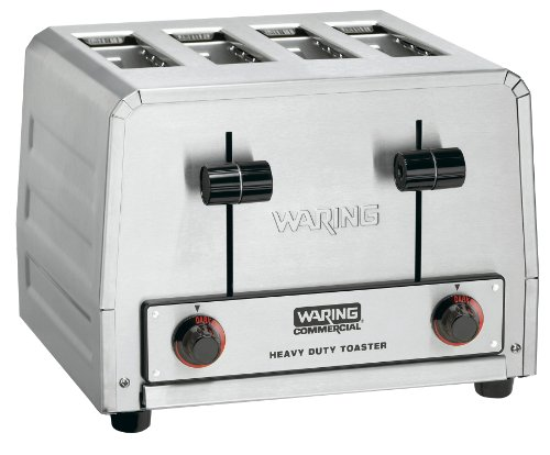 Waring Commercial Wct825 Heavy Duty Stainless Steel 240-Volt Bagel Toaster With 4 Slots front-594597