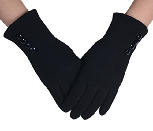 knolee-womens-button-touch-screen-glove-lined-thick-warmer-winter-glovesblack