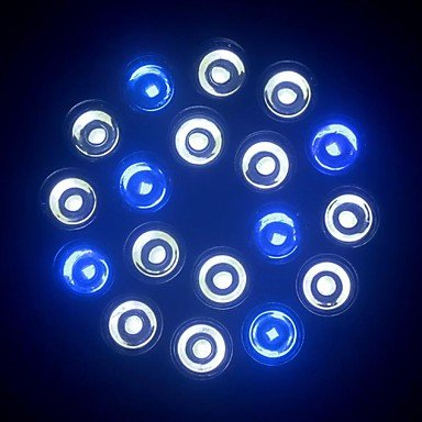 E27 18W 1080-1440Lm (12White+6Blue) Led Aquarium Light Bulb For Coral Reefs And Aquarium Fishes (85-265V)