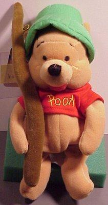 Winnie the Pooh Bean Bag Plush Fishing Pooh by Disney - 1