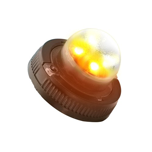 Lamphus Snakeeye Ii-4W Emergency Vehicle Snowplow Surface Mount 4W Led Hide-Away Strobe Warning Light ( Other Color Available ) - Amber White