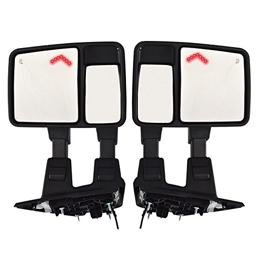 Buy Cheap DEDC Pair Power Heated With Red LED Signal Light ARROW Towing Mirrors Side Mirrors For 08-...