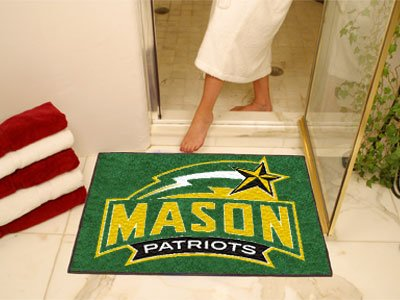 NCAA George Mason Patriots Chromo Jet Printed Rectangular Area Rug Floor Mat 45