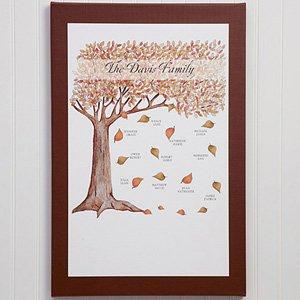Personalized Fall Family Tree Canvas Wall Art - Medium front-968866